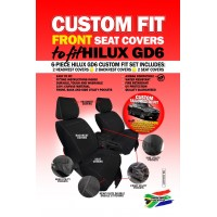 Skinz custom fit front seat covers Toyota Hilux GD6
