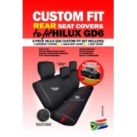 Skinz custom fit rear seat covers Toyota Hilux GD6